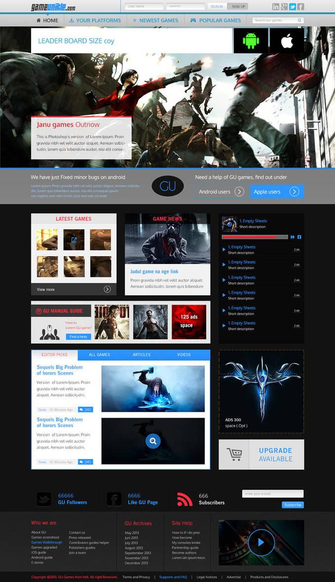 Gameunikle Website Design by janu-onliners