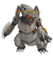 Mecha Aggron by jcling