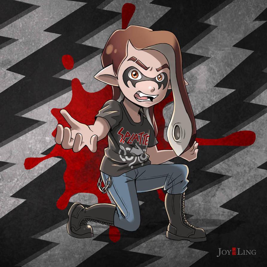 Metal Inkling (Splatoon Fanart) by jcling