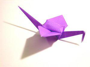 Paper Crane by foldingtheuniverse