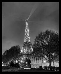 Cloudy eve at the Eiffel Tower by mackphoto
