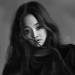 Jennie Fan Portrait by wkryanchanart