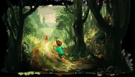 The secret castle by Mada-Goblin