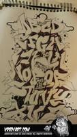 Graffiti alphabet by KreDy