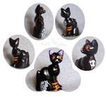 Apple the Cat Halloween Black by KazFoxsen