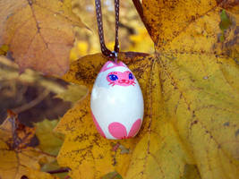 Pink Siamese Cat Ornament by KazFoxsen