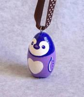 Baby Penguin Ornament by KazFoxsen