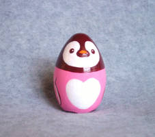 Pink Penguin Figurine by KazFoxsen