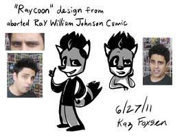 Ray W Johnson Raccoon Design by KazFoxsen