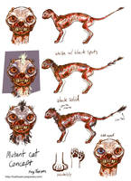 Fallout Mutant Cat Concept by KazFoxsen