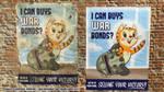 Fallout War Bond LOL Cat Poster by KazFoxsen