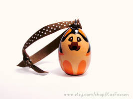 Hand-painted Cute German Shepard Dog Ornament by KazFoxsen