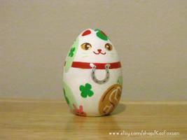 WIP Westernized Maneki Neko Ornament or Figurine by KazFoxsen