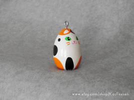 Custom Calico Cat Figurine or Seasonal Ornament by KazFoxsen