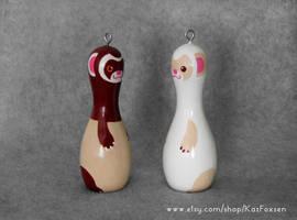 Custom Ferret Figurine or Seasonal Ornament by KazFoxsen