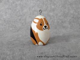 Comission: Custom Corgi Dog Figurine or Ornament by KazFoxsen