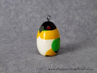 Commission: Custom Black-Headed Parrot Ornament by KazFoxsen