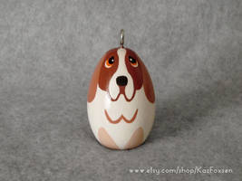 Custom Basset Hound Ornament or Figurine by KazFoxsen