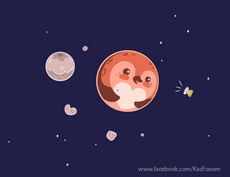 Kawaii Pluto Penguin Planet and Moons (Zazzle) by KazFoxsen