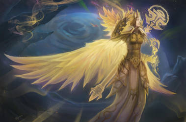 Golden Seraphim by Elizanel