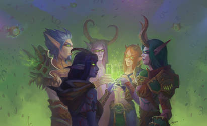 Party elves by Elizanel