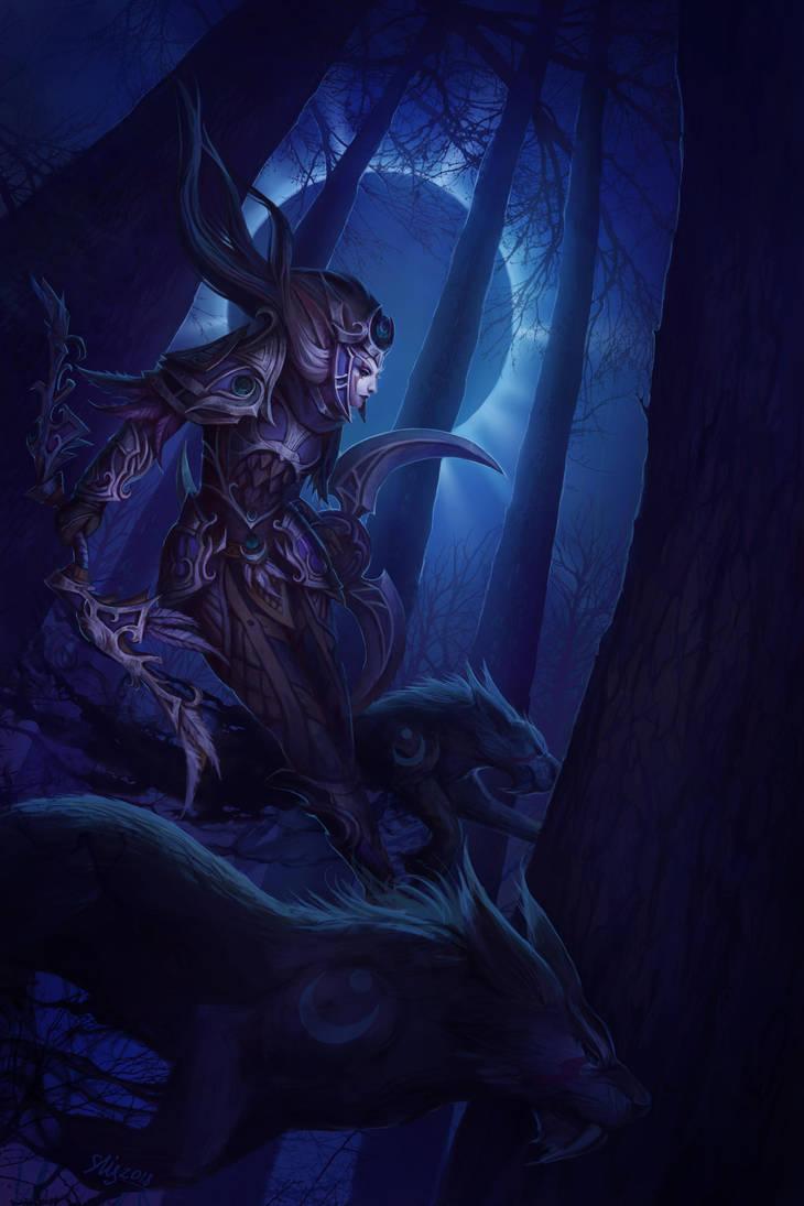 Night warrior by Elizanel