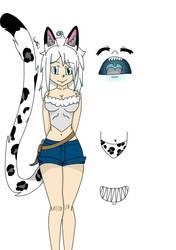 Snowleopard Oc by LykiaxOokami