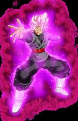 Goku Black ssj rose power kii by jaredsongohan