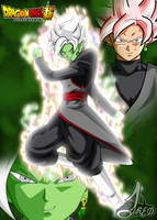 Presentacion Fusion -  Black Goku y Zamasu by jaredsongohan