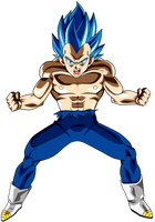 Vegeta Ssj Blue Full Power #2 by jaredsongohan