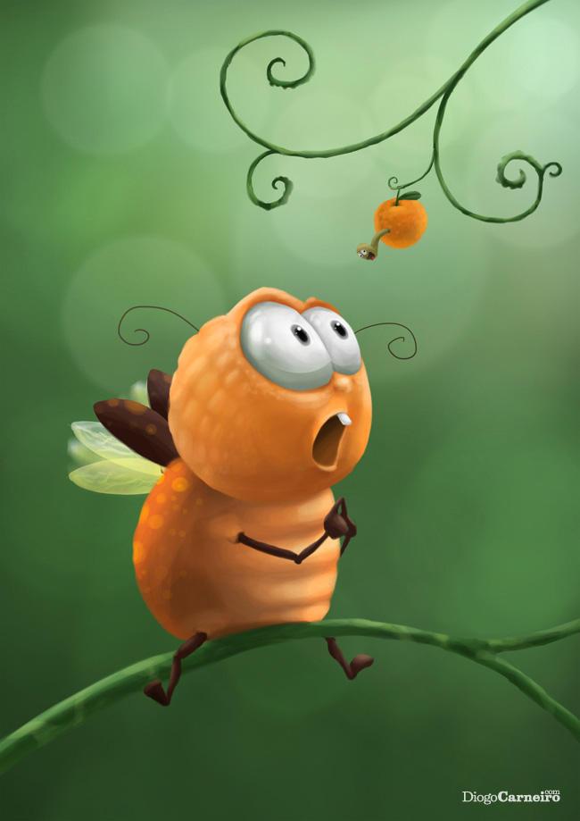 SpeedPainting - Orange Bug by diogocarneiro