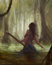 Swamp witch by diogocarneiro