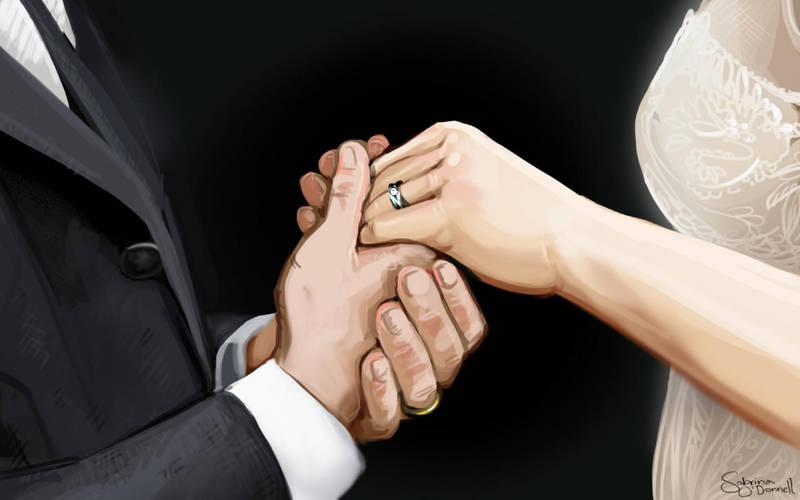 Marriage - Illustration by Sabtastic
