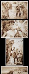 Ink Narrative - Iron Fist vs. Godzilla by Sabtastic