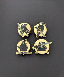 Knife Crow Enamel Pin Set by Sabtastic