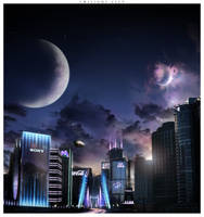 Twilight city by Xehon-art