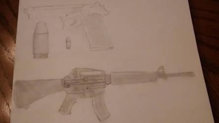 Guns #1 by ZephyrForArt