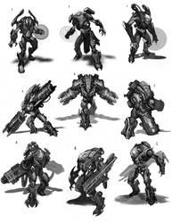 Sci-Fi Sketches by JSMarantz