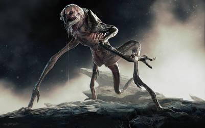 3D Creature Design: The Alien Rock Grubber by JSMarantz