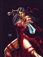 Elektra Watercolor by edtadeo