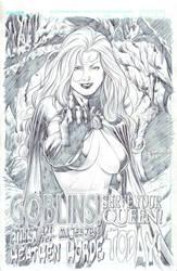 Goblin Queen - Pencil by edtadeo