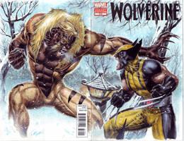 Wolverine vs Sabretooth by edtadeo
