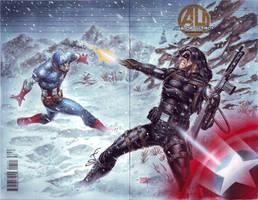 Captain America vs Winter Soldier by edtadeo