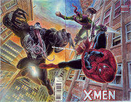 SpiderMan vs Venom Green Goblin by edtadeo