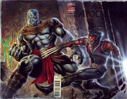 AoA - Wolverine vs Apocalypse by edtadeo