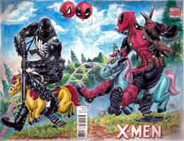 Venom vs Deadpool by edtadeo