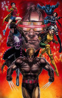 X-Men Blue Team Watercolor by edtadeo