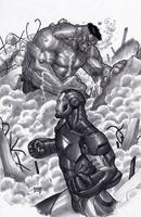 Incredible Hulk vs Iron Man by edtadeo