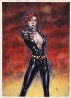 Black Widow - Watercolors by edtadeo
