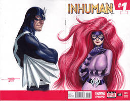Inhumans - Blackbolt and Medusa by edtadeo